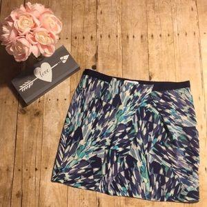 Eliot Silk Watercolor Skirt (Madewell)